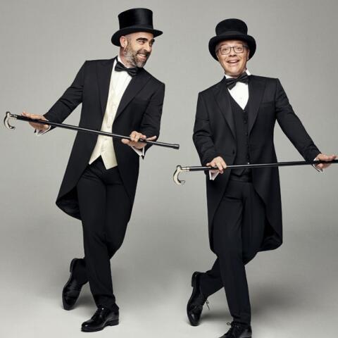 Luis Tosar y Daniel Monzón, bailando bajo el chaparrón