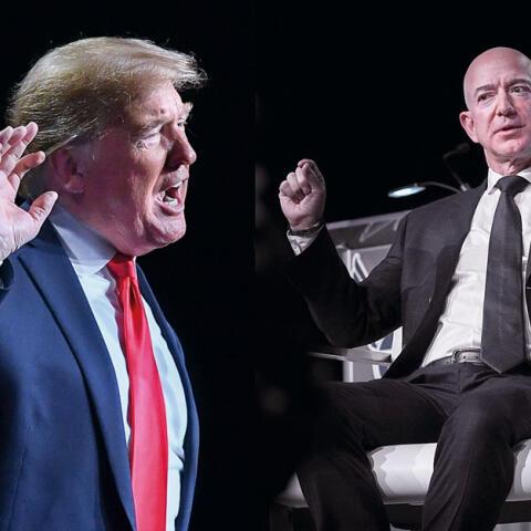 Bezos contra Trump: sexo, poder y chantaje